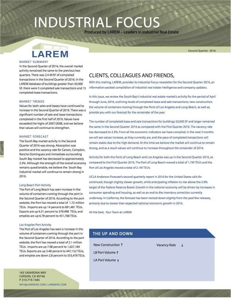 Larem_News_Header 2016 - 2nd Quarter 7.19.16_Page 1